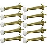 BRAINERD 3 Solid Door Stop 10-Pack - Brushed Brass