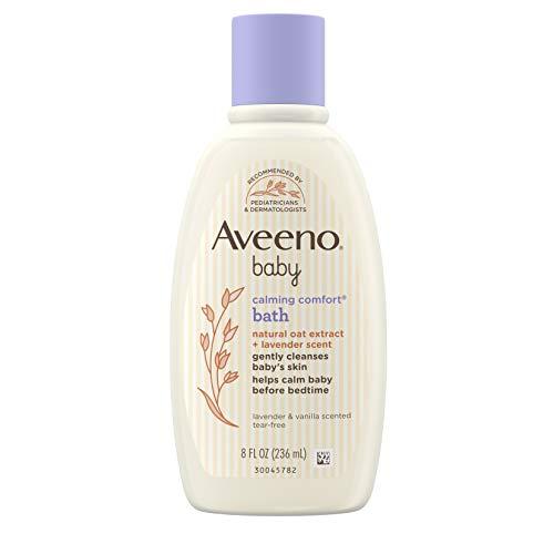 Aveeno Baby Calming Comfort Bath & Wash with Relaxing Lavender & Vanilla Scents & Natural Oat Extract, Hypoallergenic…