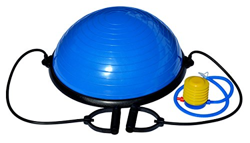 "Leopold 23"" Inch Balance Stability Ball Fitness Yoga Strength Exercise Trainer with Resistance Bands"