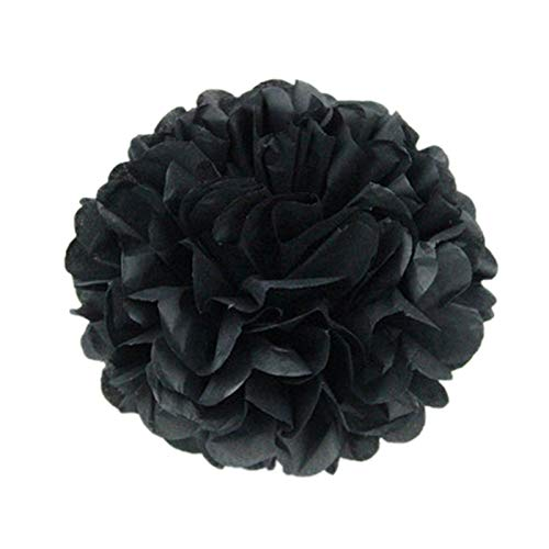 - 5Pcs 6''-12'' Tissue Paper Pompoms Wedding Paper Flowers Ball Baby Shower Birthday Decoration Paper Pom Poms
