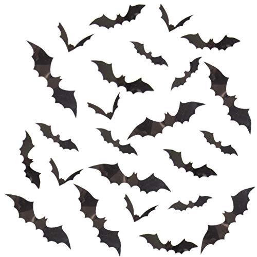3D Bats Wall Decal, 72 Pcs Scary 3D