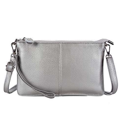 Befen Women's Leather Wristlet Clutch Phone Wallet, Mini Crossbody Purse Bag with Card Slots ()