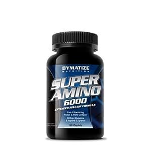 Dymatize Nutrition Super Amino 6000 Diet Supplement Tablets, 180 Count