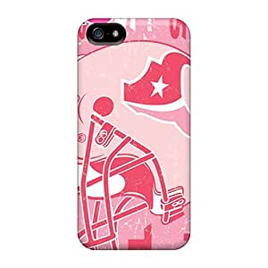 Rugged Skin Cases Covers For Iphone 5/5s- Eco-friendly Packaging(houston Texans)