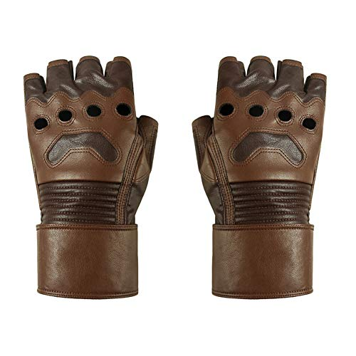 Captain America Leather Gloves (Avengers Endgame Captain America Cosplay Gloves Infinity War cycling Leather)