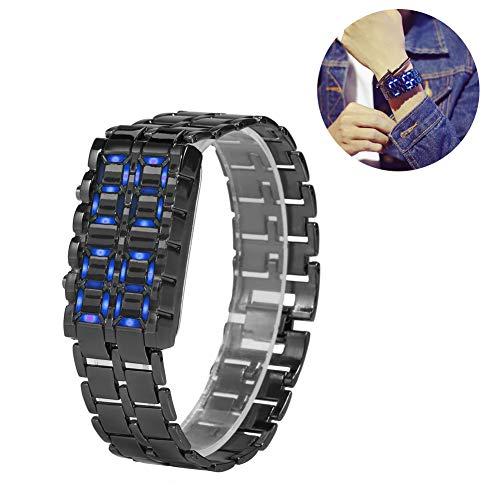 Fashionable Steel Band Couple Bracelet Watch, LED Lighting Electronic Wristwatch(#1)
