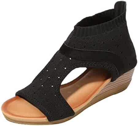 ce3d27508 Goddessvan 2019 Women Gladiator Ethnic Sandals Roman Shoes Platform Wedge Sandals  Shoes