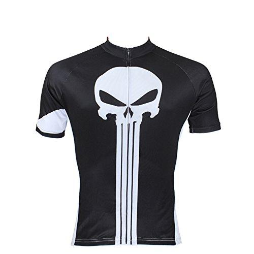 Xinzechen Outdoor Sports Polyester Short Sleeve Bicycle Jersey Punisher Size XXXL