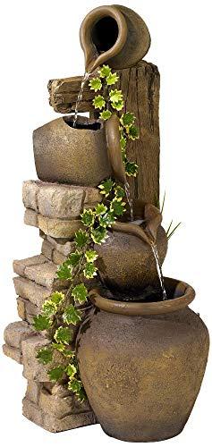Garden Jug - John Timberland Rustic Water Fountain Three Jugs Cascading 33