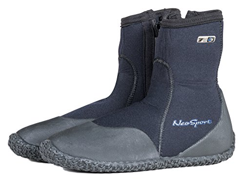 Neo-Sport Premium Neoprene Men & Women Wetsuit Boots, Shoes Puncture Resistant Sole 3mm, 5mm & 7mm Warm, Moderate Cold Water Watersports: Beach, Boat, Lake, mud, Kayak More! Sizes 4-16