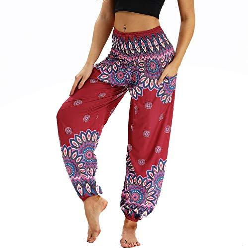 Donna Harem Lvguang da Stile3 Loose Spiaggia Elasticità Boho Pantaloni Pantaloni Pants Waist Sportivi UfwEw1q