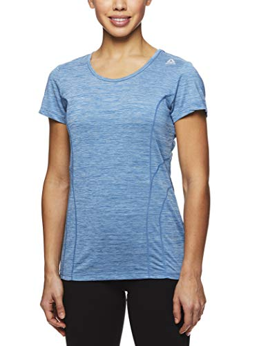 Reebok Women's Dynamic Fitted Performance Short Sleeve T-Shirt - Midnight 12 Heather, Large