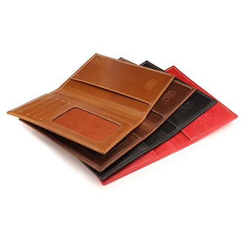 OTTO Leather Passport Wallet - RFID Blocking - Unisex (Red) by OTTO (Image #6)