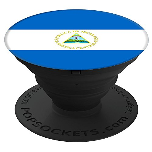 Flags of the World Apparel Co. Nicaragua Flag PopSockets Stand for Smartphones and Tablets