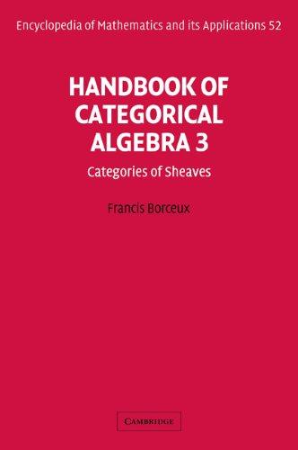 Handbook of Categorical Algebra: Volume 3, Sheaf Theory (Encyclopedia of Mathematics and its Applications)