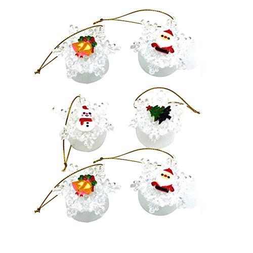 DERKOLY 6Pcs Christmas Snowflake LED Color Change Xmas Tree Night Light...