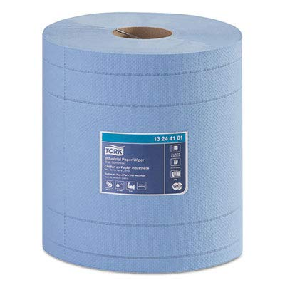 Industrial Paper Wiper, 4-PLY, 11 X 15.75, Blue, 375 Wipes/ROLL, 2 ROLL/Carton ()