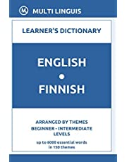 English-Finnish Learner's Dictionary (Arranged by Themes, Beginner - Intermediate Levels)