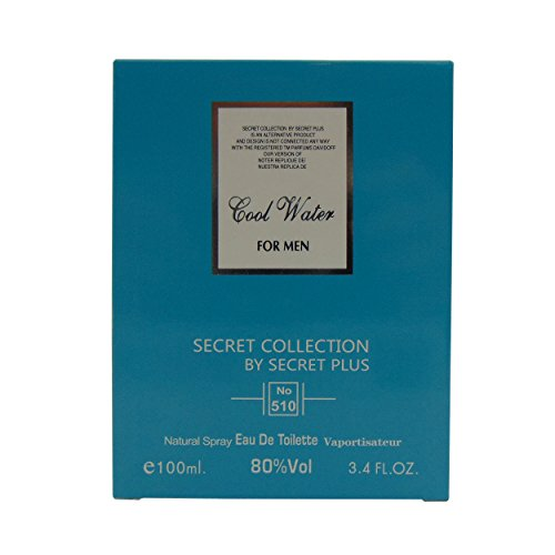 SECRET COLLECTION, Our Version of COOL WATER BY DAVIDOFF, 3.4 fl.oz. Eau De Toilette Spray for Men, Perfect Gift