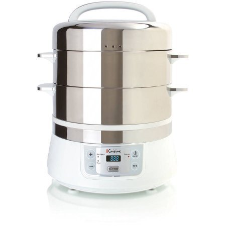 Euro Cuisine Stainless Steel Electric Food Steamer by Euro Cuisine