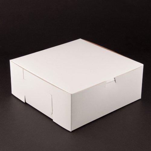Lot of 25 Bakery or Cake Box WHITE 10x10x5-1/2