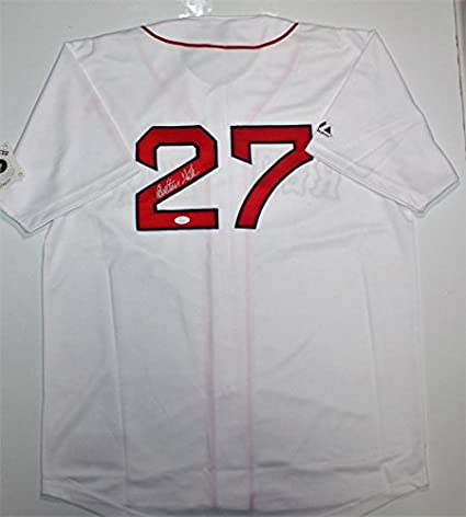 fb00ea3f2 Image Unavailable. Image not available for. Color: Carlton Fisk Autographed  Boston Red Sox Jersey- JSA ...