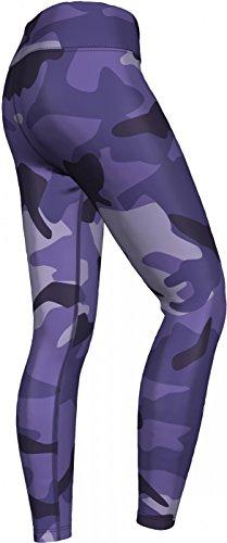 Lila Camo Leggings sehr dehnbar für Sport, Gymnastik, Training, Tanzen & Freizeit Lila