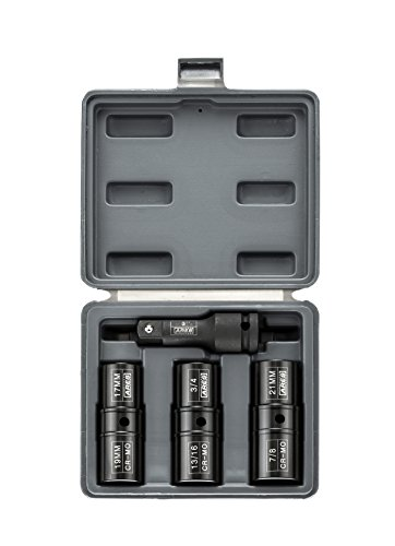 ARES 1/2-inch Drive 4- Piece Flip Lug Nut Socket Set | 70056 | Includes 17, 19, 21mm Metric Sizes and 3/4,13/16, 7/8 SAE Sizes | Impact Grade Chrome-Molybdenum Steel Ensures Lifetime Use by ARES (Image #3)