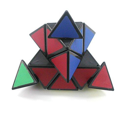 KaLaiXing® Triangle Pyraminx Pyramid Speed Cube Puzzles Children's Twist Toy Game Education–black