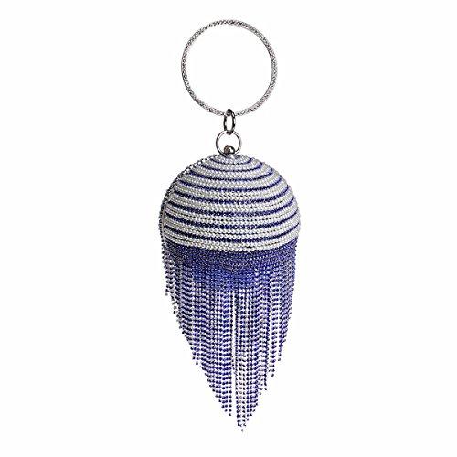 Banquet Gueules Blue Diamant Forage Sac De Banquet Sac Soirée Mode De Tassel De XJTNLB Au Nouveau qwtgHHS