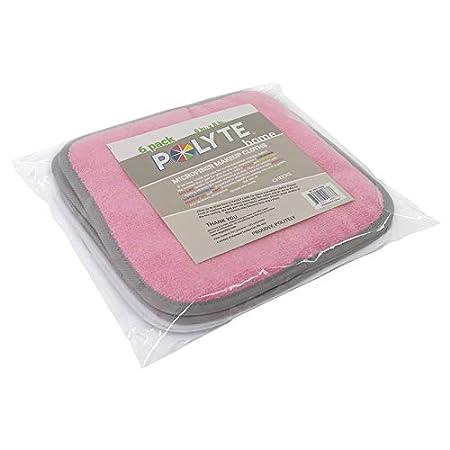 Polyte Premium Abschminktuch Aus Mikrofaser Hypoallergen Frei Von Chemikalien 6 Stück 20x20 Cm Rosa Weiß Beauty