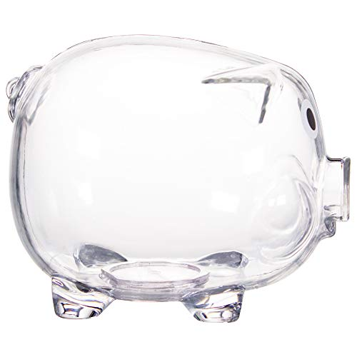 Windy City Novelties Educational Kids Clear Piggy Banks -