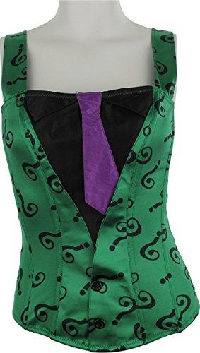[Batman Riddler Suit and Tie Corset Lingerie, Medium] (The Riddler Suit)