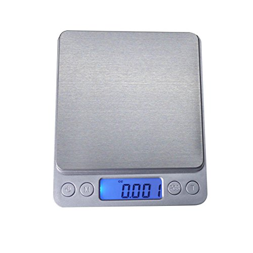 500g/0.01g (17.63oz/0.001oz) Resolution High-precision Digital Pocket Stainless Jewelry & Kitchen food Scale, Lab Weight, Back-Lit LCD Display