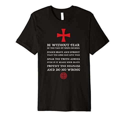 Mens Crusader Knight   Knights Templar Code T Shirt   Holy Cross - Jerseys No Fear Mens