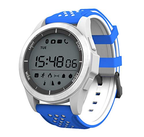 F3 Smart Watch Luminous Altitude Meter Barometer Mileage IP68 Waterproof Pedometer Smartwatch For IOS Android,White