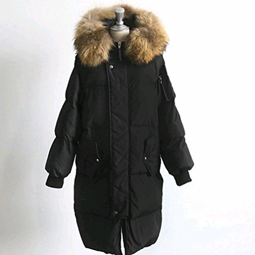 down Fashion Duck Jacket Winter Black down White Loose Long 'S Jacket Military Women Clothing Equipment Loose r7O6rEqw