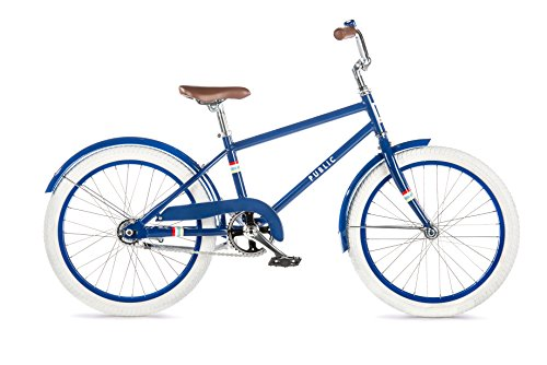 "PUBLIC Bikes V1 Diamond Frame Kids Bike, 20""/Medium/Large, Royal Blue"