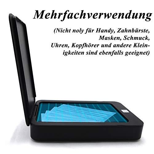 Reente UV Box Desinfektion Handy,UV Reinigungsgerät Handy UV Handy Sterilisator Box Smartphone UV Box für Smartphone,Bluetooth Ohrhörer,Watches,Schmuck