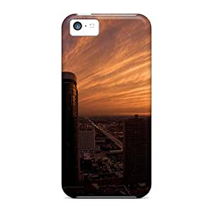 Fashionable Style Case Cover Skin For Iphone 5c- Chicago Skyscrapers At Twilight