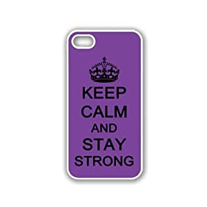 Keep Calm And Stay Strong - Red Wood - Protective Designer BLACK Case - Fits Apple iPhone 5 / 5S