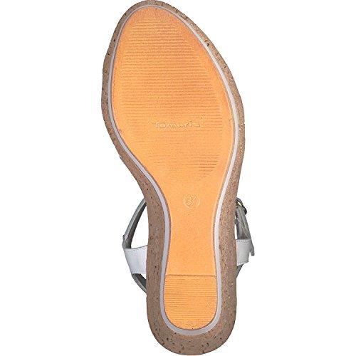 Tamaris Women's 28347 T-Bar Sandals, White, 3 UK White