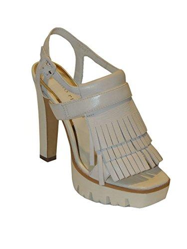 Bruno Premi sandale pour femme MADE IN ITALY en cuir avec fringes talons et plateau F3403X
