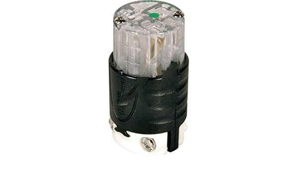 2 Pole Connector Pass /& Seymour PS5369-XHG 20A Black and Cle Hospital Grade 125V 3 Wire Ground NEMA: 5-20R