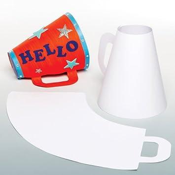Baker Ross Kit para diseñar tu Propio megáfono, Juego de ...