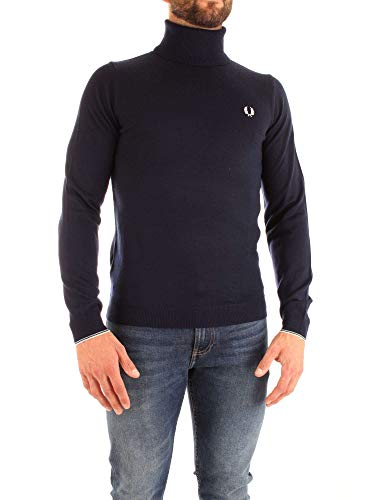 Carbone mérinos Rouleau Pull Perry de Fred Noir Laine Hommes col zvaEw