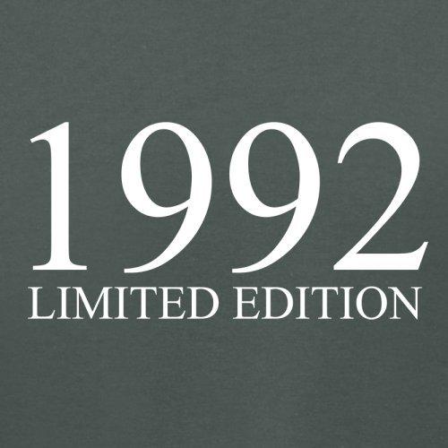 1992 Limierte Auflage / Limited Edition - 25. Geburtstag - Damen T-Shirt - Dunkelgrau - L
