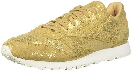 Walking Gold Shimmer Reebok Cl Shoe Xj Chalk Women's Lthr I1pSqwzg