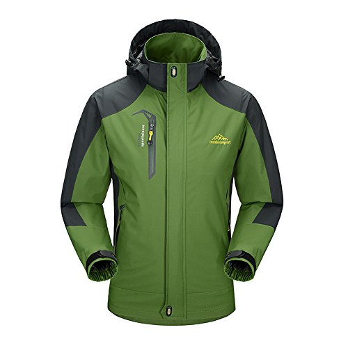 Verde Aire Al del Hombre Libre Capucha Windbreaker Montaña Chaqueta Mujer ejército Impermeable Con Softshell pHEqwP