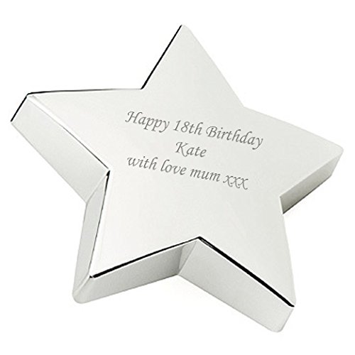 - Personalised Silver Plated Star Paperweight